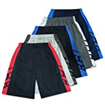 American Legend Mens Active Athletic Performance Shorts - Set 2-5 Pack, S