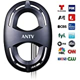 ANTV Outdoor TV Antenna Enhanced VHF/UHF Signal Reception, 65 Miles Omni-Directional Range HD Attic Antenna with High Gain 33ft Long Coaxial Cable, Fit in Outdoor/Indoor Use, Weather Resistant