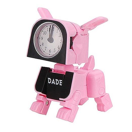 Hamkaw Reloj Despertador Infantil de Forma de Perro Mecánico ...