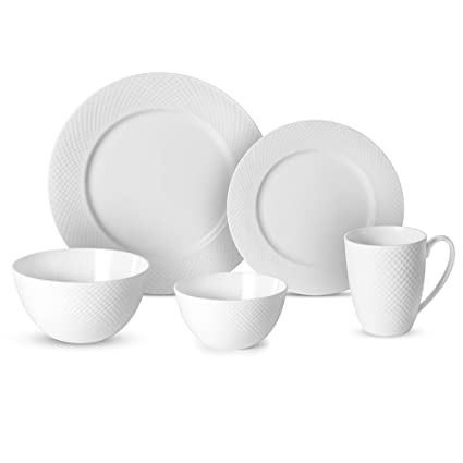 Mikasa Stanton 40 Piece Dinnerware Set Service for 8 White  sc 1 st  Amazon.com & Amazon.com | Mikasa Stanton 40 Piece Dinnerware Set Service for 8 ...