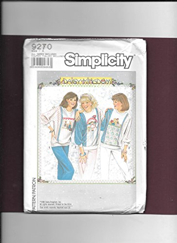 Simplicity Sewing Pattern 9270 Misses Size 6-24 Pullover Dolman Sleeve ()