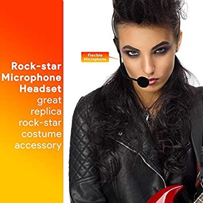 Skeleteen Rockstar Costume Accessories Headset Fake Rock Star Mj Singer Microphone And Headphones Costume Accessory Prop Amazon Sg Electronics