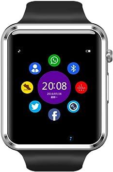 Montre Connectée Smart Watch pour Smartphone Android, Apple iOS et Windows Bluetooth 4.0 Montre Intelligente avec Support Carte