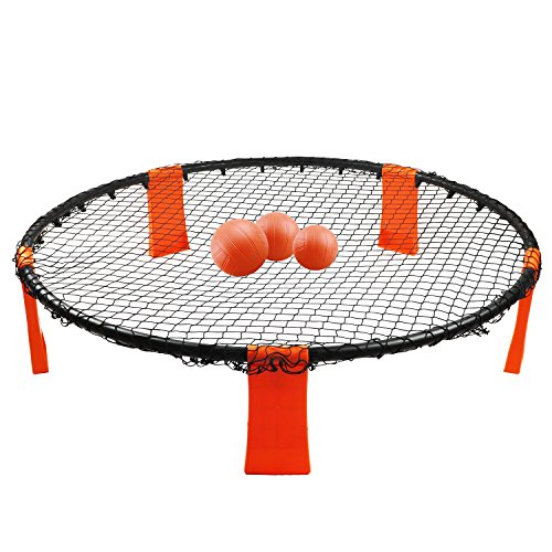HomsTek Spike It Game Set, Volleyball Toss Game Set, 3-Balls Included by HomsTek