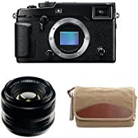 Fujifilm X-Pro2 Body Professional Mirrorless Camera (Black) + XF35mmF1.4 R + Domke F-5XB Camera Bag