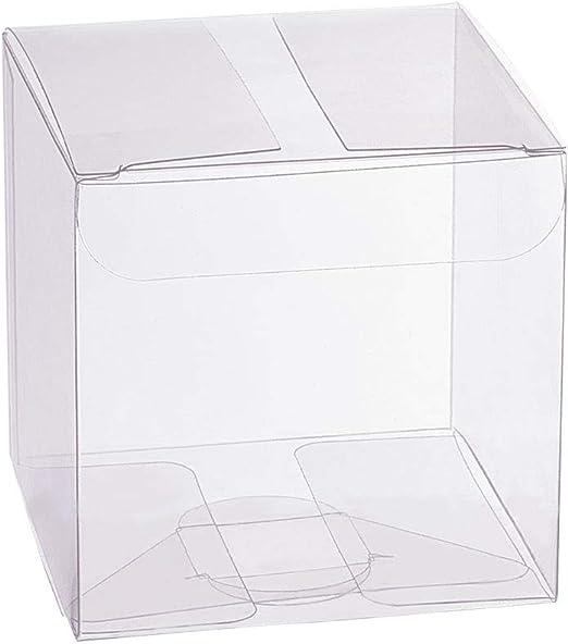 BENECREAT 30 Pack PVC Caja Transparente de Embalaje 7x7x7cm Cajita ...