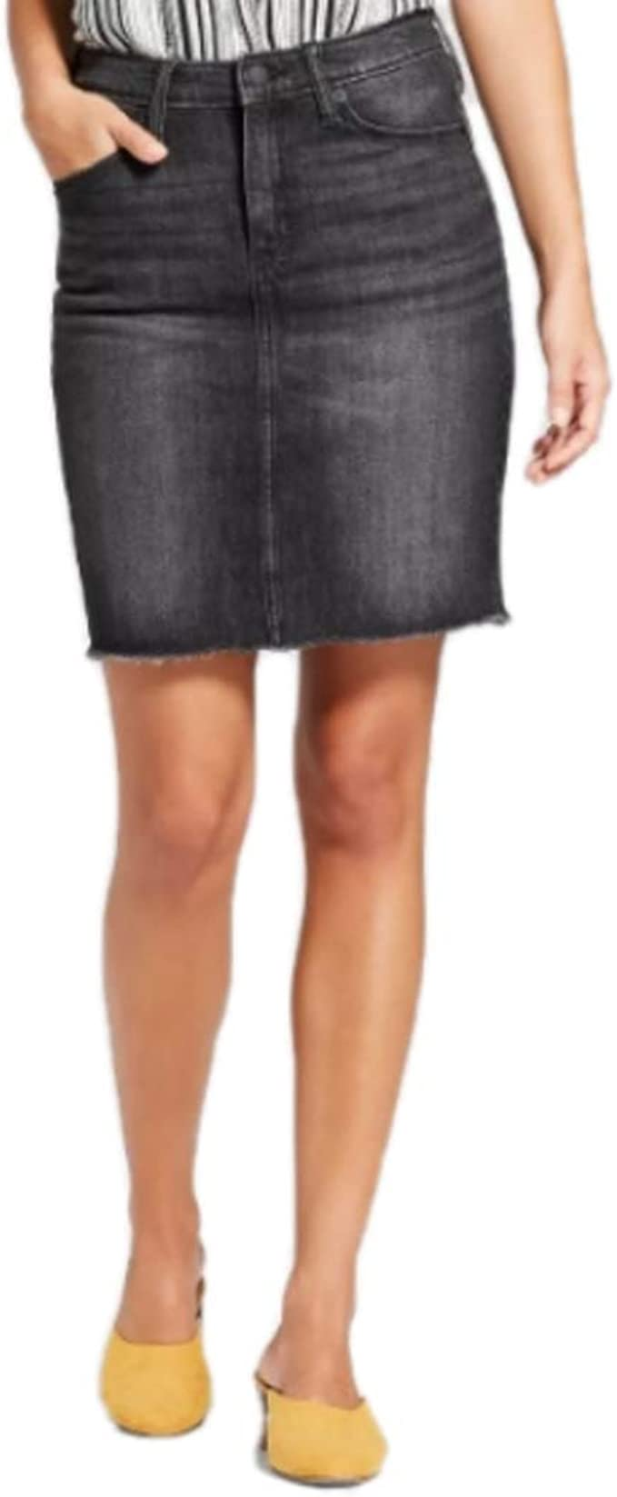 Universal Thread, Mini Falda Vaquera para Mujer, Color Negro ...