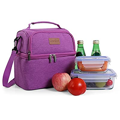 Lifewit Double Decker Lunch Box for Men Women Kids, Insulated Thermal Bento Bag, Double Section Baby Milk Bottle Bag, 7L from Lifewit