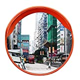Safety Convex Mirror, 24'' Breakage-Proof Wide Angle Driveway Road Safety Traffic Mirror Wall Mount for Road Safety and Shop Security,Includes Mounting Cap& Bracket & Screw