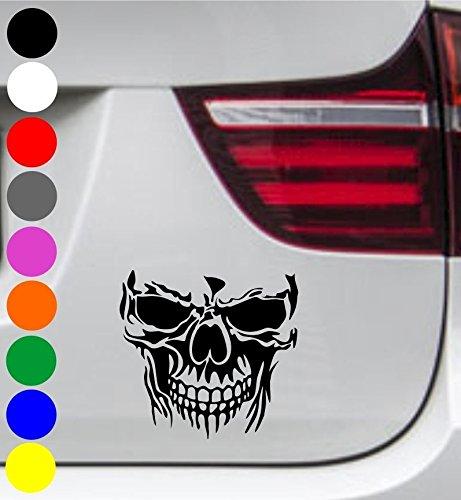 wDesigns 2er Set Autoaufkleber Totenkopf Skelett Skull SCHÄ DEL Aufkleber Tuning Decal