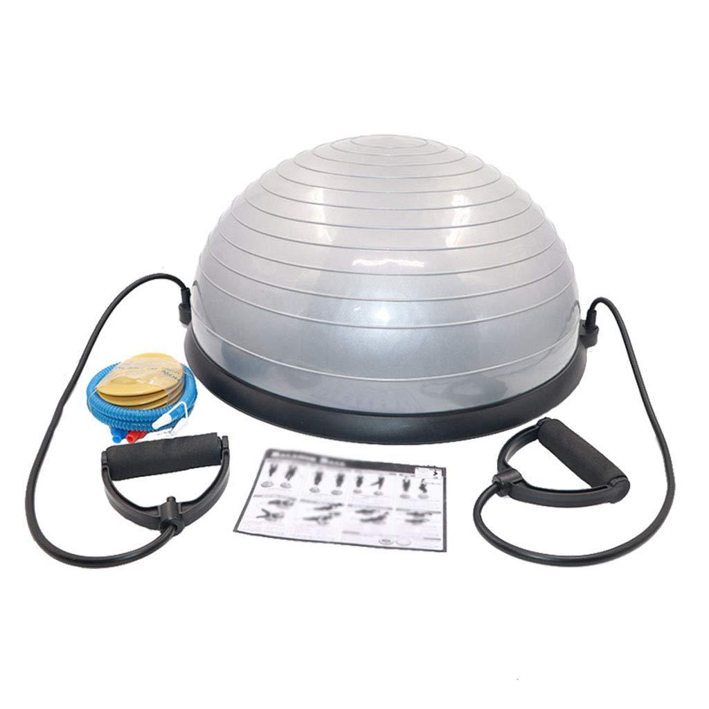 NSC Yoga Balance Balls Pilates Gym Workout Half Fitness Ball Exercises Trainer Explosion-Proof Yoga Ball (Color : Gray)