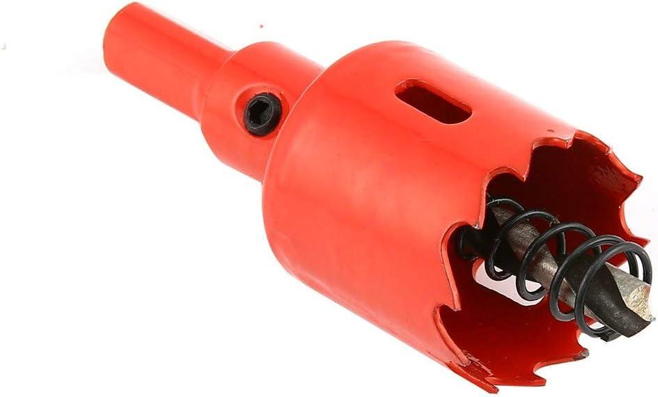 color rojo 42 mm, acero inoxidable, placa de metal YUIO M42 Cortador de brocas para sierra de corona