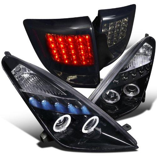Glossy Black Celica Projector Headlights+Led Tail Lights Dark Smoke Lens