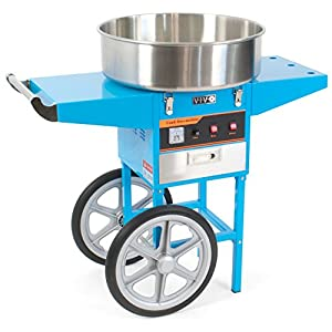 VIVO Blue Electric Commercial Cotton Candy Machine/Floss Maker Cart Stand (CANDY-V002B)