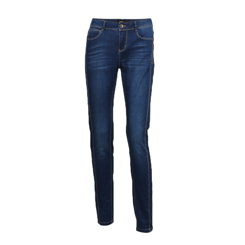 JNTworld Women Mid-Rise Stretch Jeans Casual Skinny Denim Trousers Pantss, XS, Blue