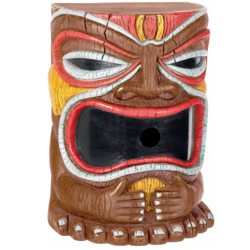[Amscan Hawaiian Summer Luau Battery Tiki Head Bubble Machine Decoration (1 Piece), Multi Color, 9.1 x] (Tiki Costumes)