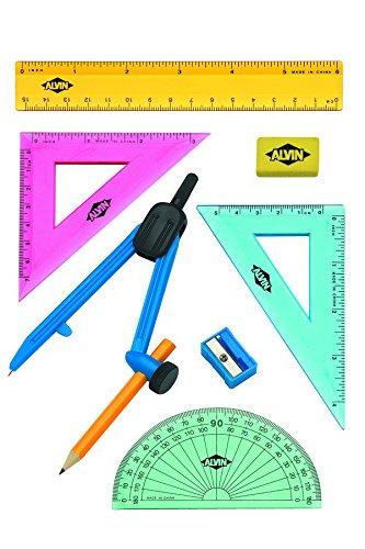 Alvin FL04 8 Piece Geometry Compass
