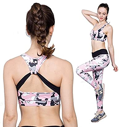 2351b4d868477 Josykai Sports Bras for Women High Compression Athletic Bras (Large) at  Amazon Women s Clothing store