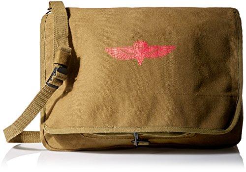 8128 - OLIVE DRAB ISRAELI PARATROOPER SHOULDER BAG W/EMBLEM by Out In Style, Inc.