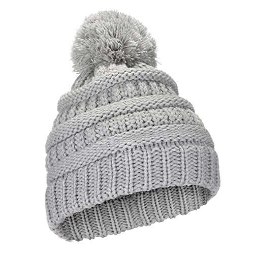 Angel Cap Little Womens (Kids Toddlers Cable Knit for Boys/Girls, ODOLAND Thick Soft Warm Winter Hat for Boys/Girls, Color Grey)