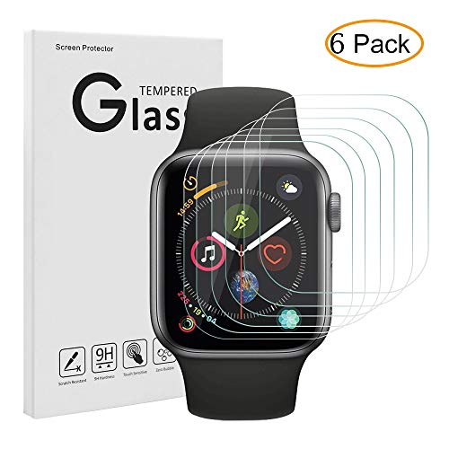Tempered Glass Screen Protector for Apple Watch (42mm Series 3/2/1),Candywe Apple Watch Screen Protector with 9H Hardness/Crystal Clear/Scratch Resist/No-Bubble-6pack