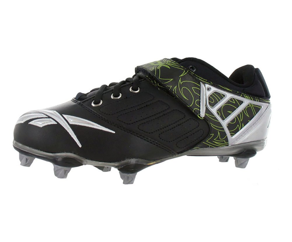 Reebok Bulldodge SD2 Low Men's Lacrosse Shoes Size US 10, Regular Width, Color Black/Silver/Lime