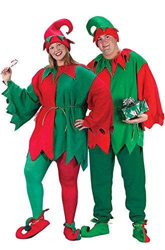 (Fun World Costumes Plus-Size Plus Size Elf Costume, Red/Green,)