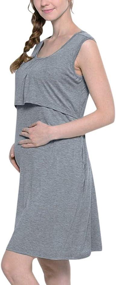 Conquro Camisón Lactancia Ropa de Premama Maternidad Vestido ...