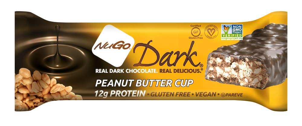 NuGo Dark Peanut Butter Cup, 1.76-Ounce (Pack of 12)