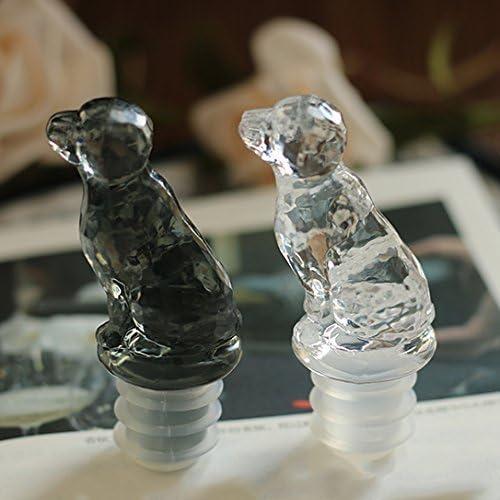 Tapón para botella con forma de gato, de LYWUU, Black Dog: Amazon ...