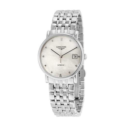 LONGINES ELEGANT COLLECTION RELOJ DE MUJER AUTOMÁTICO 34.5MM DE ACERO L48094876: Amazon.es: Relojes