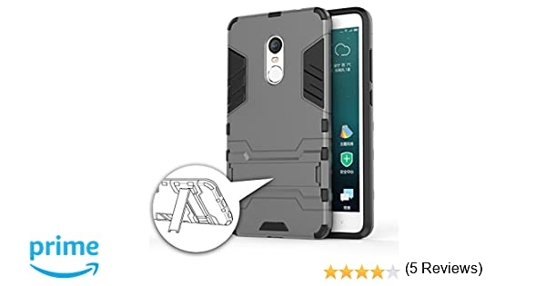 GERMAN TECH Cool Shield - Funda híbrida para Xiaomi Redmi Note 4X, Color Gris