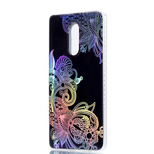 Funda Redmi Note 4X, CaseLover Carcasa para Xiaomi Redmi Note 4X Transparente Suave Silicona TPU Borde + PC Rígida Plástico Espalda Duro Protectora Caso Ultra Delgado Parachoques Híbridos Tapa Anti-Ar Flor 3