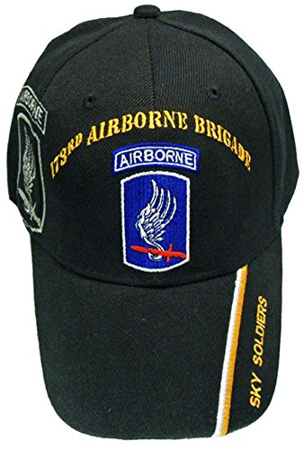 U.S. Army Division and Brigade Baseball Caps Quality Embroidered Hats (173rd Airborne Brigade Sky Soldiers) (173rd Division Airborne)