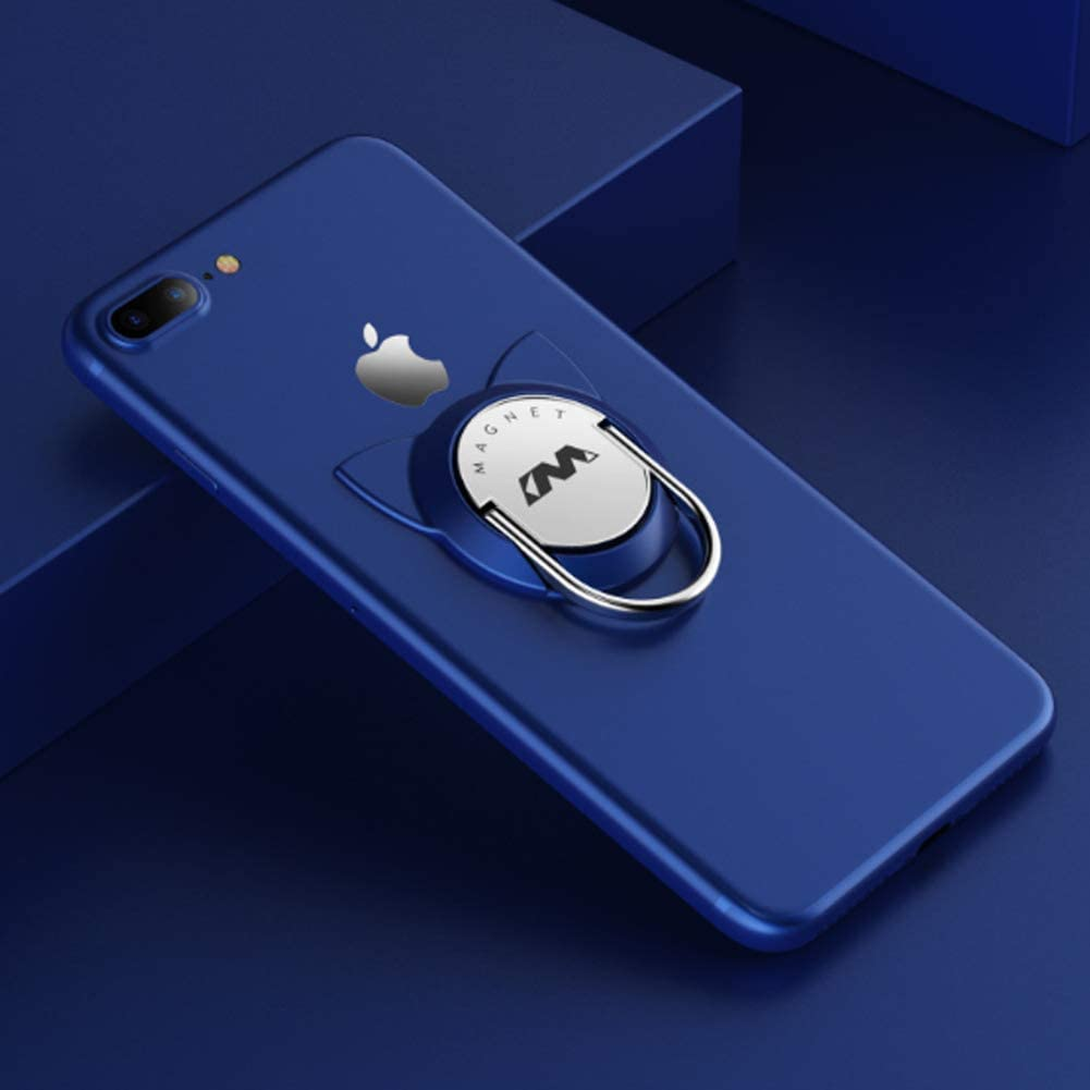2 Pack,Blue Phone Ring Stand for Magnet Car Mount Holder Phone Finger Ring Compatible for iPhone 12//iPad//Samsung//Huawei//LG and More Phones Cat Phine Ring Holder 2 Pack