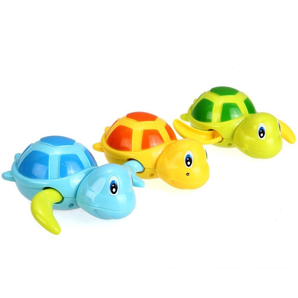MA-on Süßes Schildkröten-Spielzeug für Babybadewanne, zufällige Farbe