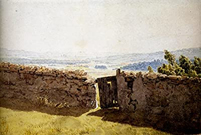 Landscape with Crumbling Wall by Caspar David Friedrich. 100% Hand Painted. Oil On Canvas. Reproduction. (Unframed and Unstretched).