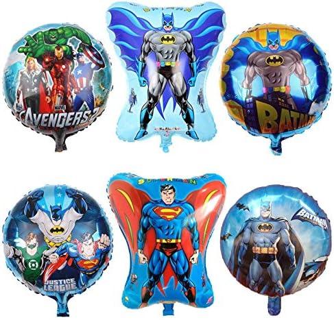 Globos 5pcs Decoraciones De Fiesta De Cumpleaños De Hierro Superman Suministros Para Niños Entrega Aleatoria
