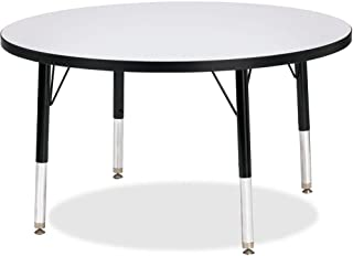 "product image for Jonti-Craft Kydz Activity Table 36"" Diameter/Gray Top/Black Edge/Toddler Height"