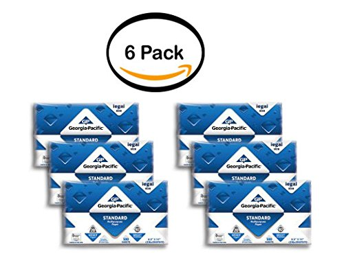 PACK OF 6 - Georgia-Pacific Standard Multipurpose Legal Paper, 8.5'' x 14'', 20lb, 92 Brightness, 500 Sheets by Georgia Pacific Professional