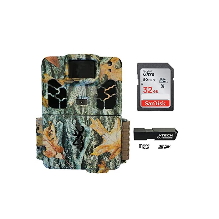 Browning Dark Ops HD Pro X (2019) Trail Game Camera Bundle Includes 32GB Memory Card and J-TECH Card Reader (20MP) | BTC6HDPX