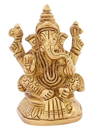 Kapasi Handicrafts Emporium Brass Ganesh Decorative Idol Statue by Kapasi Handicrafts Emporium