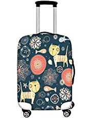 Dreaweet Lovely Cat Pattern Luggage Cover Protector Suitcase Cover Protector fits 29-32 inch Elastic Sleeve Cover