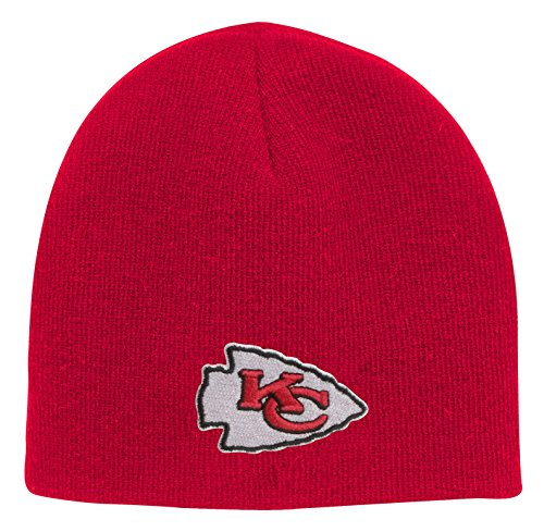 NFL Boys 4-7 Basic Cuffless Knit Hat-Red-1 Size, Kansas City Chiefs