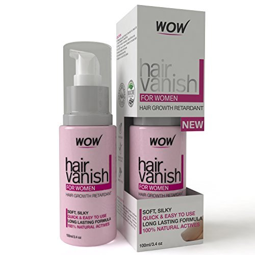 WOW Hair Vanish For Women - All Natural Hair Removal Cream, Lotion Moisturizes Skin & Reduces Growth, Hair Thickness & Appearance