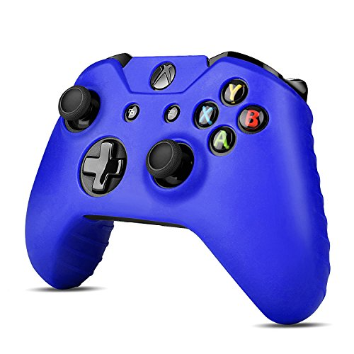 TNP Xbox One Controller Case (Navy Blue) - Soft Silicone Gel Rubber Grip Case Protective Cover Skin for Xbox One Wireless Game Gaming Gamepad Controllers [Xbox One] - Htc Silicone X Skin One