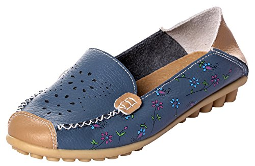 UJoowalk+Womens+Casual+Comfortable+Stylish+Cowhide+Leather+Hollow+out+Slip+on+Walking+Driving+Loafer+Shoes+%289.5+B%28M%29+US%2C+Blue%29