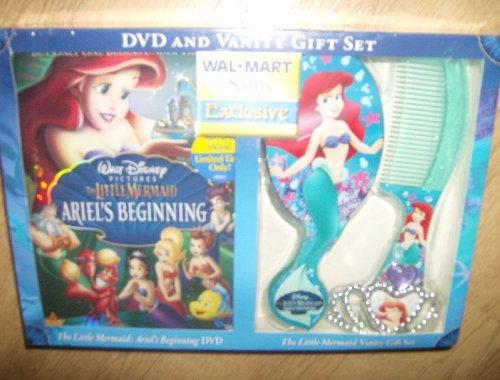 Walt Disney The Little Mermaid Ariels Beginning Dvd And Vanity Gift Set