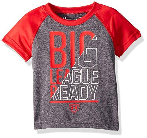 Under Armour Baby Boys Logo Raglan Tee Shirt, Carbon Heather, 18M