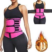 Sincrystal Women Waist Trainer Corset Sports Waist Shaping Belt Adjustable Shapewear